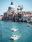 Basilica di Santa Maria della Salute along the Grand Canal, Venice, Italy
