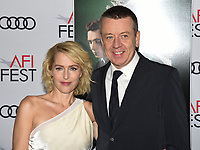 """16 November 2019 - Hollywood, California - Gillian Anderson, Peter Morgan. AFI FEST 2019 Presented By Audi – """"The Crown"""" Premiere held at TCL Chinese Theatre. Photo Credit: Billy Bennight/AdMedia"""
