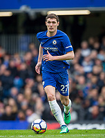 Andreas Christensen of Chelsea during the Premier League match between Chelsea and Tottenham Hotspur at Stamford Bridge, London, England on 1 April 2018. Photo by Andy Rowland.