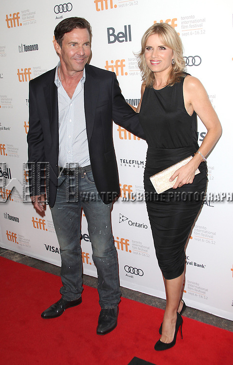 Dennis Quaid & Kim Dickens attending the The 2012 Toronto International Film Festival.Red Carpet Arrivals for 'At Any Price' at the Princess of Wales Theatre in Toronto on 9/9/2012