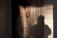 Self portrait with new bride Kerry at the Menard House in Galveston.