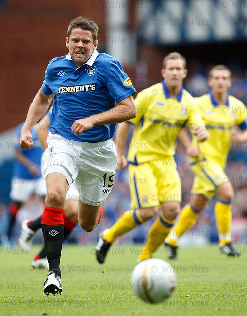 James Beattie breaks through the Kilmarnock defence