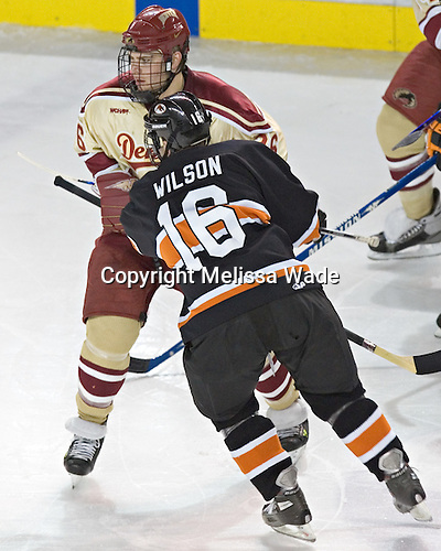 Paul Stastny, Lee Jubinville - The Princeton University Tigers defeated the University of Denver Pioneers 4-1 in their first game of the Denver Cup on Friday, December 30, 2005 at Magness Arena in Denver, CO.