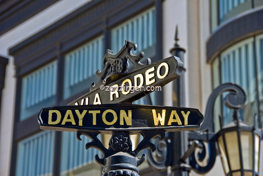 Rodeo Drive, Via Rodeo, Dayton Way, Beverly Hills, Ca