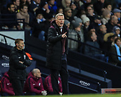3rd December 2017, Etihad Stadium, Manchester, England; EPL Premier League football, Manchester City versus West Ham United; David Moyes manager of West Ham furiously gives out orders as his side concede a goal
