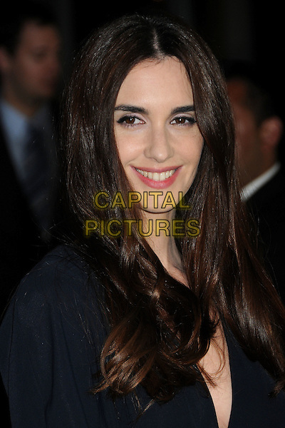 "PAZ VEGA .""Cat Run"" Los Angeles Premiere held at ArcLight Cinemas, Hollywood, California, USA, 29th March 2011..portrait headshot smiling  black beauty make-up navy blue .CAP/ADM/BP.©Byron Purvis/AdMedia/Capital Pictures."