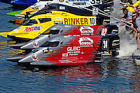 Start of the Final: Todd Bowden (#34), Shaun Torrente (#42), Terry Rinker (#10) and Chris Fairchild (#62).Champ Boat Series Grand Prix of Augusta, Augusta, GA USA  May, 2007 ©F. Peirce Williams 2007..F. Peirce Williams .photography.P.O.Box 455 Eaton, OH 45320 USA.p: 317.358.7326  e: fpwp@mac.com..
