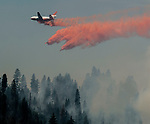 Yosemite National Park- July 29, 2014--El Portal Fire--4,198 acres treating the communities of Foresta, El Portal and the Merced Sequoia Grove.  1,194 personnel on the fire.  Photo By Al Golub/Golub Photography