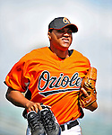 6 March 2009: Baltimore Orioles' relief pitcher Alfredo Simon trots back to the dugout prior to a Spring Training game against the Washington Nationals at Fort Lauderdale Stadium in Fort Lauderdale, Florida. The Orioles defeated the Nationals 6-2 in the Grapefruit League matchup. Mandatory Photo Credit: Ed Wolfstein Photo