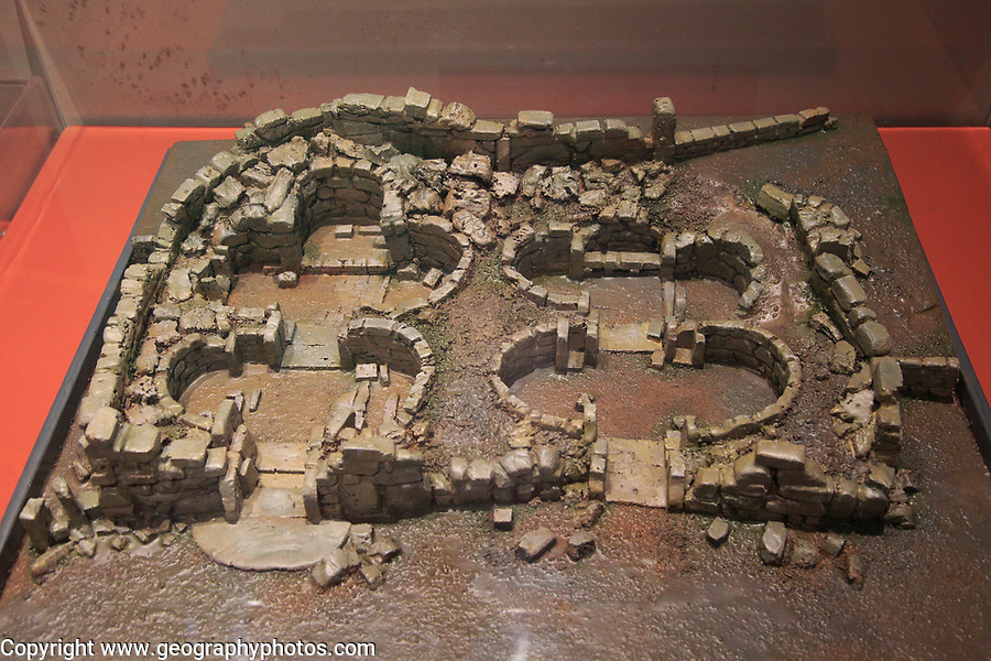 Ggantija temple model in National Museum of Archaeology, Valletta, Malta