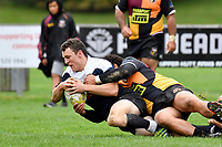 Swindale Shield Rugby - Upper Hutt Rams RFC v Petone at Maidstone Park, Upper Hutt, New Zealand on Saturday 31 March 2018.<br /> Photo by Masanori Udagawa. <br /> www.photowellington.photoshelter.com