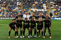 Philadelphia Union starting eleven. The Philadelphia Union and the Seattle Sounders FC played to a 1-1 tie during a Major League Soccer (MLS) match at PPL Park in Chester, PA, on April 16, 2011.
