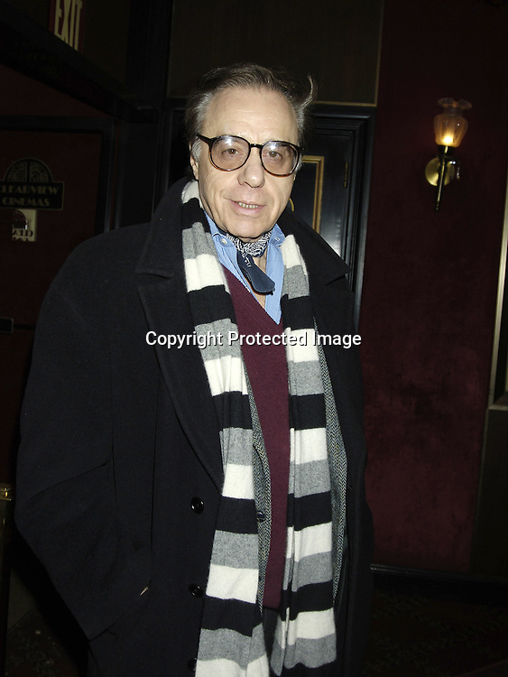 """Peter Bogdanovich ..arriving at The New York Premiere of """" Memoirs Of A Geisha """"  on December 6. 2005 at The Ziegfeld Theatre...Photo by Robin Platzer, Twin Images.."""