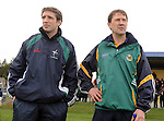 25-02-12:  Kildare Manager Kieran McGeeney and Kerry Manager Jack O'Connor at the  senior football challenge match between Kerry and Kildare at the Ballymacelligott GAA Club official pitch reopening on Saturday.  Picture: Eamonn Keogh (MacMonagle, Killarney)