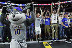SIOUX FALLS, SD - MARCH 9: Jackrabbit fans cheer on their team in the first half of their semi-final round Summit League Championship Tournament game Monday evening at the Denny Sanford Premier Center in Sioux Falls, SD. (Photo by Dick Carlson/Inertia)