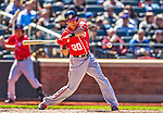 21 April 2013: Washington Nationals shortstop Ian Desmond in action against the New York Mets at Citi Field in Flushing, NY. The Mets shut out the visiting Nationals 2-0, taking the rubber match of their 3-game weekend series. Mandatory Credit: Ed Wolfstein Photo *** RAW (NEF) Image File Available ***