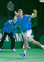 08-02-2014,Netherlands,Rotterdam,Ahoy, ABNAMROWTT , Daniel Brands (GER)<br /> Photo:Tennisimages/Henk Koster