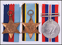 BNPS.co.uk (01202 558833)<br /> Pic: C&amp;T/BNPS<br /> <br /> The bravery medals of an air gunner who lost his life during a raid which is legendary due to the heroism of one of his fellow crew members has sold for &pound;2,000.<br /> <br /> On the night of April 26, 1944 Flight Sergeant N H Johnson of 106 Squadron was the rear air gunner for a sortie in a Lancaster to bomb a ball bearing factory in Schweinfurt, Germany.<br /> <br /> The Lancaster was attacked by a German fighter and a fire started near a petrol tank on the starboard wing between the fuselage and the inner engine.<br /> <br /> What happened next was truly remarkable as the flight engineer Sergeant Norman Jackson climbed out of the cockpit at 20,000ft to try and put out the fire which had engulfed the plane.