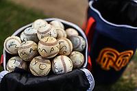 Detalle de pelotas de entrenamiento de los Mayos de Navojoa, durante juego de beisbol de la Liga Mexicana del Pacifico temporada 2017 2018. Tercer juego de la serie de playoffs entre Mayos de Navojoa vs Naranjeros. 04Enero2018. (Foto: Luis Gutierrez /NortePhoto.com)