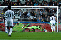 Thursday  03 October  2013  Pictured: Gerhard Tremme makes a save<br /> Re:UEFA Europa League, Swansea City FC vs FC St.Gallen,  at the Liberty Staduim Swansea