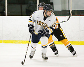 The visiting American International College Yellow Jackets defeated the Bentley University Falcons 5-1 on Saturday, February 12, 2011, at John A. Ryan Skating Arena in Watertown, Massachusetts.