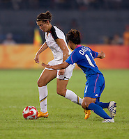 Carli Lloyd, Shinobu Ohno. The USWNT defeated Japan, 4-2, during the semi-finals of the Beijing 2008 Olympics in Beijing, China.