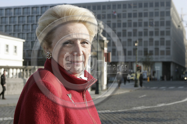 BRUSSELS - BELGIUM - 30 NOVEMBER 2004 -- Francoise de SALIGNY, Attach? of Culture at the Finnish Embassy to Belgium. -- PHOTO: JUHA ROININEN / EUP-IMAGES