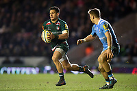 Matt Toomua of Leicester Tigers in possession. Aviva Premiership match, between Leicester Tigers and London Irish on January 6, 2018 at Welford Road in Leicester, England. Photo by: Patrick Khachfe / JMP