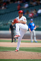 Memphis Redbirds relief pitcher Sam Tuivailala (23) delivers a pitch during a game against the Iowa Cubs on May 29, 2017 at AutoZone Park in Memphis, Tennessee.  Memphis defeated Iowa 6-5.  (Mike Janes/Four Seam Images)