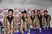 Tigres del Norte  durante la rueda de Prensa en la Feria Internacional de Durango 2013.<br /> *29,Junio,2013.<br /> (*©NortePhoto)