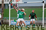 Ballyduff's Gary O'Brian and Kanturk's Paul Walsh in action, in the Munster IHC semi final in Austion Stack Park on Sunday last.