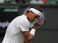 LONDON, ENGLAND - JULY 05: Rafael Nadal attend day four of the Wimbledon Tennis Championships at the All England Lawn Tennis and Croquet Club on July 5, 2018 in London, England.<br /> CAP/MPI122<br /> &copy;MPI122/Capital Pictures