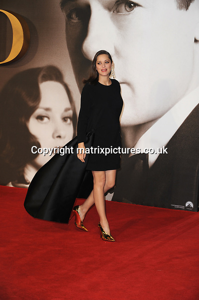 NON EXCLUSIVE ALL ROUND PICTURE: MATRIXPICTURES.CO.UK<br /> PLEASE CREDIT ALL USES<br /> <br /> WORLD RIGHTS<br /> <br /> Marion Cotillard attends the UK premiere of Allied at Leicester Square in London.  <br /> <br /> NOVEMBER 21st 2016<br /> <br /> REF: TST 163616