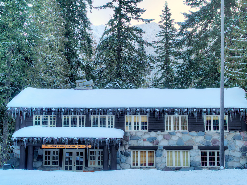Lomngmire lodge. Mt. Rainier National Park, Washington