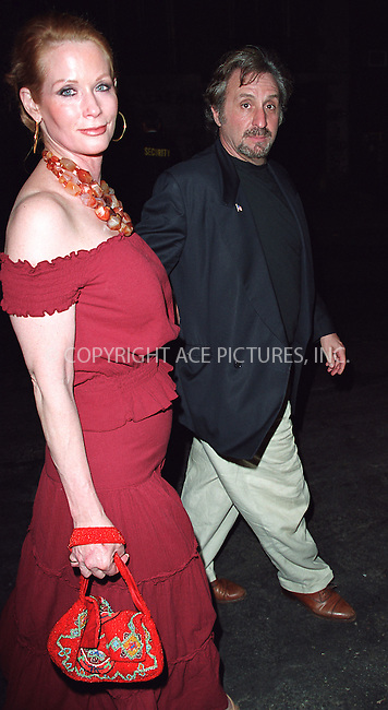 Actor/director Ron Silver and wife attending a party celebration of the first anniversary of his club Man Ray. New York, July 10, 2002. Please byline: Alecsey Boldeskul/NY Photo Press.   ..*PAY-PER-USE*      ....NY Photo Press:  ..phone (646) 267-6913;   ..e-mail: info@nyphotopress.com