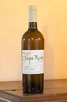 Chateau Coupe Roses, La Caunette. Viognier Vin de Pays des Cotes du Brian. Minervois. Languedoc. France. Europe. Bottle.
