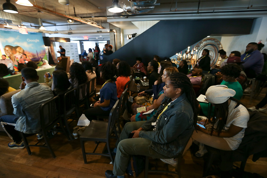 Image from the Keepin' It Green: A Conversation on Environmental Gentrification during Broccoli Con at Google Headquarters DC on Thursday, April 26, 2018, in Washington.