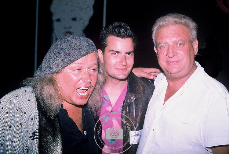 Sam Kinison, Charlie Sheen & Rodney Dangerfield , July 1987