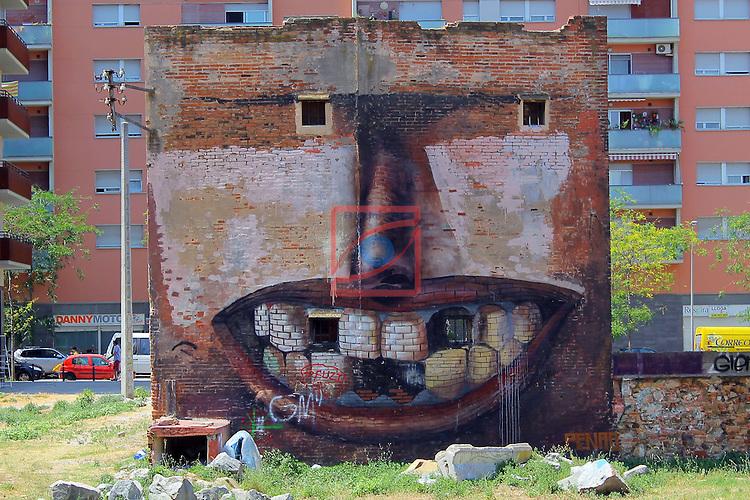 Street Art-Graffittis.<br /> Barcelona, carrer Selva de Mar.