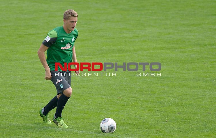 04.09.2013, Trainingsgelaende, Bremen, GER, 1.FBL, Training Werder Bremen, im Bild Nils Petersen (Bremen #24)<br /> <br /> Foto &copy; nph / Frisch