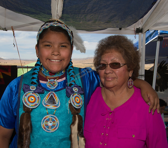Ciabi Dick and Millie Brigham at the Numaga Indian Days Pow Wow in Hungry Valley on Saturday, Sept. 3, 2016.