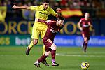 Villarreal CF's Rodrigo Hernandez (l) and FC Barcelona's Leo Messi during La Liga match. December 10,2017. (ALTERPHOTOS/Acero)