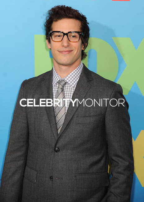 NEW YORK CITY, NY, USA - MAY 12: Andy Samberg at the FOX 2014 Programming Presentation held at the FOX Fanfront on May 12, 2014 in New York City, New York, United States. (Photo by Celebrity Monitor)