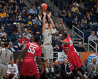 Ricky Kreklow of California shoots the ball during the game against Fresno State at Haas Pavilion in Berkeley, California on December 14th, 2013.  California defeated Fresno State, 67-56.
