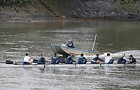 Putney, London,  Tideway Week, Championship Course. River Thames, OUWBC Training with Chief Coach, Ali BROWN. Crew: Oxford WBC<br /> <br /> Bow:Alice ROBERT, 2: Flo PICKLES, 3: Rebecca Esselstein &ndash; USA., 4: Rebecca Te Water Naude, 5: Harriet Austin, 6: Chloe Laverack &ndash; USA., 7: Emily Cameron &ndash; CAN., Stroke: Jenna Hebert, Cox: Eleanor Shearer.<br /> <br /> Wednesday  29/03/2017<br /> [Mandatory Credit; Credit: Peter Spurrier/Intersport Images.com ]