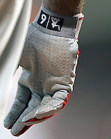 Ryan Howard batting glove. Photo by Andrew Woolley / Baseball America.