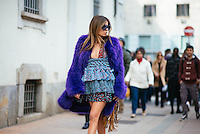 Erica Pelosini at Milan Fashion Week (Photo by Hunter Abrams/Guest of a Guest)