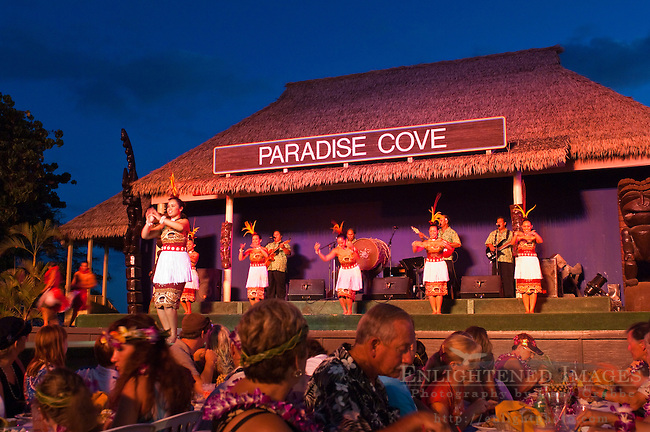 Hula Dancers at Paradise Cove Luau, Kapolei, Oahu, Hawaii