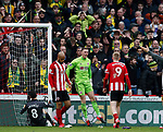 Dean Henderson of Sheffield Utd celebrates keeping the ball out of the net during the Premier League match at Bramall Lane, Sheffield. Picture date: 7th March 2020. Picture credit should read: Simon Bellis/Sportimage
