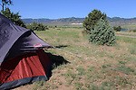 Tenting by the Rocky Mountains, Colorado, USA